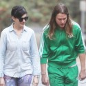 Anne Hathaway Goes For A Walk With Husband And Friends