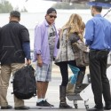 Charlie Sheen And Ex-Wife Denise Richards Leave Los Angeles On A Private Plane