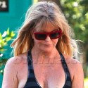 Goldie Hawn's Boobs Nearly Hang Out At The Gym