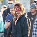 Ashley Greene Gets Bloody On Set Of New Film Burying The Ex