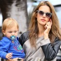 Alessandra Ambrosio Wears Leather For Afternoon Outing