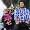 Hilary Duff And Mike Comrie Take Little Luca To The Farmers Market
