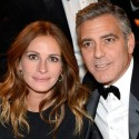 Julia Robert Flirts With George Clooney At BAFTA Awards