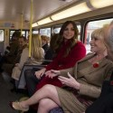 Kate Middleton And Prince WIlliam Ride Bus To Poppy Day Event
