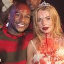 Lindsay Lohan Cozies Up To Floyd Mayweather On Halloween