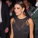 Eva Longoria Wears Sexy Black Dress For London Gala