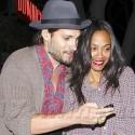 Zoe Saldana And Husband Marco Perego Dine At Dominick's