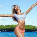Candice Swanepoel Models Sexy Bikinis By The Beach