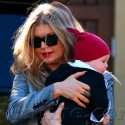 Fergie And Josh Duhamel Take Little Axl To A Christmas Party