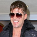 Robin Thicke Returns Home From Miami
