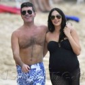 SImon Cowell And His Pregnant Girlfriend Show Off Their Bathing Suit Bodies In Barbados