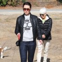 Amanda Bynes Walks Her Family's Dogs