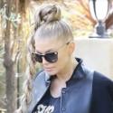 Fergie Rocks Big Hair In Beverly Hills