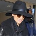 Lea Michele Wears All Black At LAX