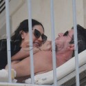 SImon Cowell Cozies Up WIth Pregnant Girlfirend During Trip To Barbados