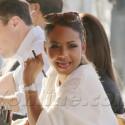 Christina Milian Puffs On E Cigarette At Lunch