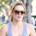 Hilary Duff Hits The Gym Early