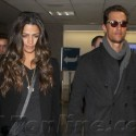 Matthew McConaughey And Wife Camila Alves Land At LAX