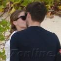 Olivia Palermo And Fiance Johannes Huebl Kiss On The Beach
