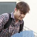 Ashton Kutcher Leaves The Studio And Gets In His Car