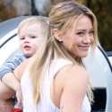 Hilary Duff Smiles After Picking Up Son Luca