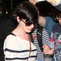 Anne Hathaway And Husband Get Mobbed Outside Of LAX
