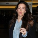 Liv Tyler Lands At LAX