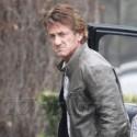 Sean Penn Arrives At The Studio