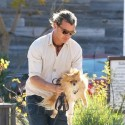 Gavin Rossdale Takes Adorable Pup Chewy On A Walk