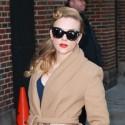 Scarlett Johansson Glams Up For Letterman