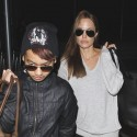 Angelina Jolie And Oldest Son Maddox Leave LAX