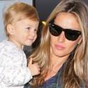 Gisele Bundchen And Little Vivian Leave LAX