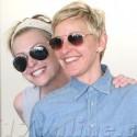 Ellen DeGeneres And Wife Portia De Rossi Smooch On Valentine's Day