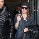 Shakira Is In A Great Mood At LAX