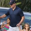 Matt Damon Takes His Little Girls To Chris Hemsworth's Baby Shower