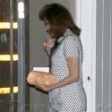Eva Mendes Looks Pregnant In Polka Dot Dress