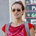 Olivia Wilde Rocks A Bright Red Dress