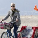 Pink Goes Biking With Daughter Willow