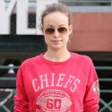 Olivia Wilde Wears Chiefs Sweatshirt