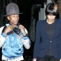 Pharrell Williams Rocks His Signature Mountie Hat For Date Night With His Wife