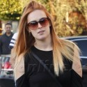 Rumer Willis Goes Red Ombre
