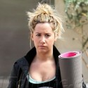 Ashley Tisdale Heads To Yoga