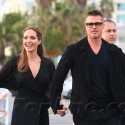Angelina Jolie Almost Trips ... But Brad Saves The Day!