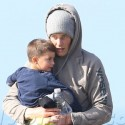 Tom Brady Plays With Son Benjamin On The Beach