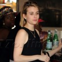 Emma Roberts Grabs A Bite With Friends