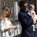 Tom And Gisele Take Little Vivian To Her Baptism