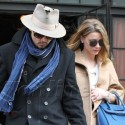 Johnny Depp And Amber Heard Leave Their NYC Hotel