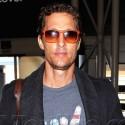 Matthew McConaughey Lands At LAX