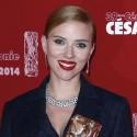 Scarlett Johansson And Romain Dauriac At The Cesar Awards