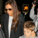 Victoria Beckham And The Kids Land At LAX